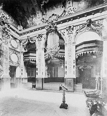 Eosanderkapelle with organ before 1944